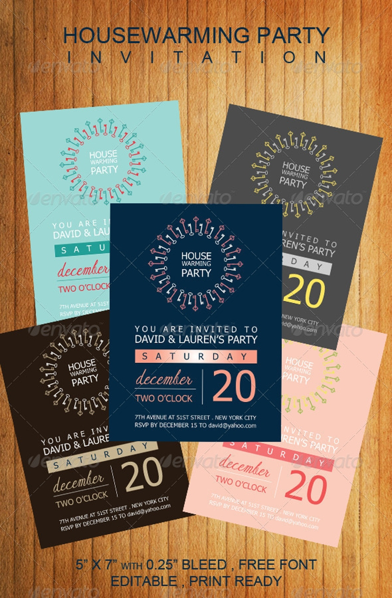stylish housewarming party invitation