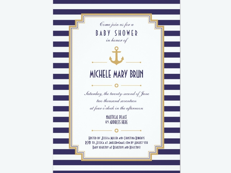 stylish nautical neutral baby shower invitation1