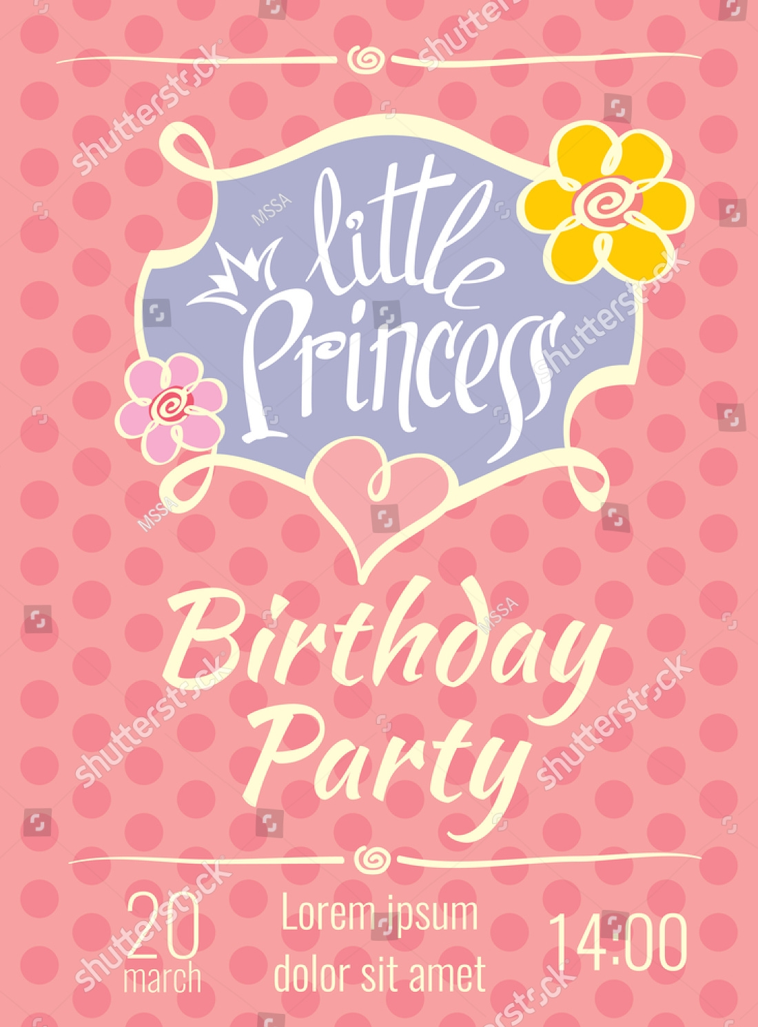 stylish little princes party invitation