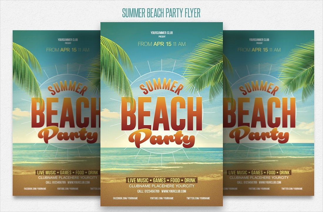 summer beach party invitation1