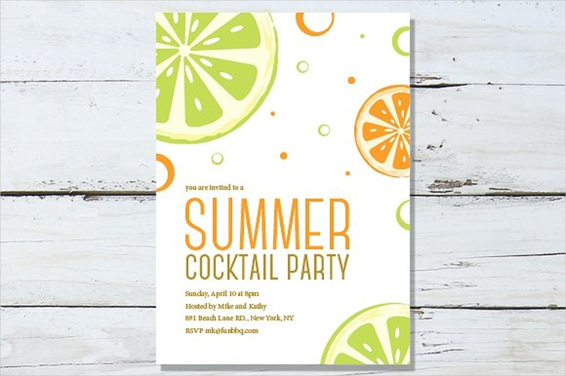 summer cocktail party invitation