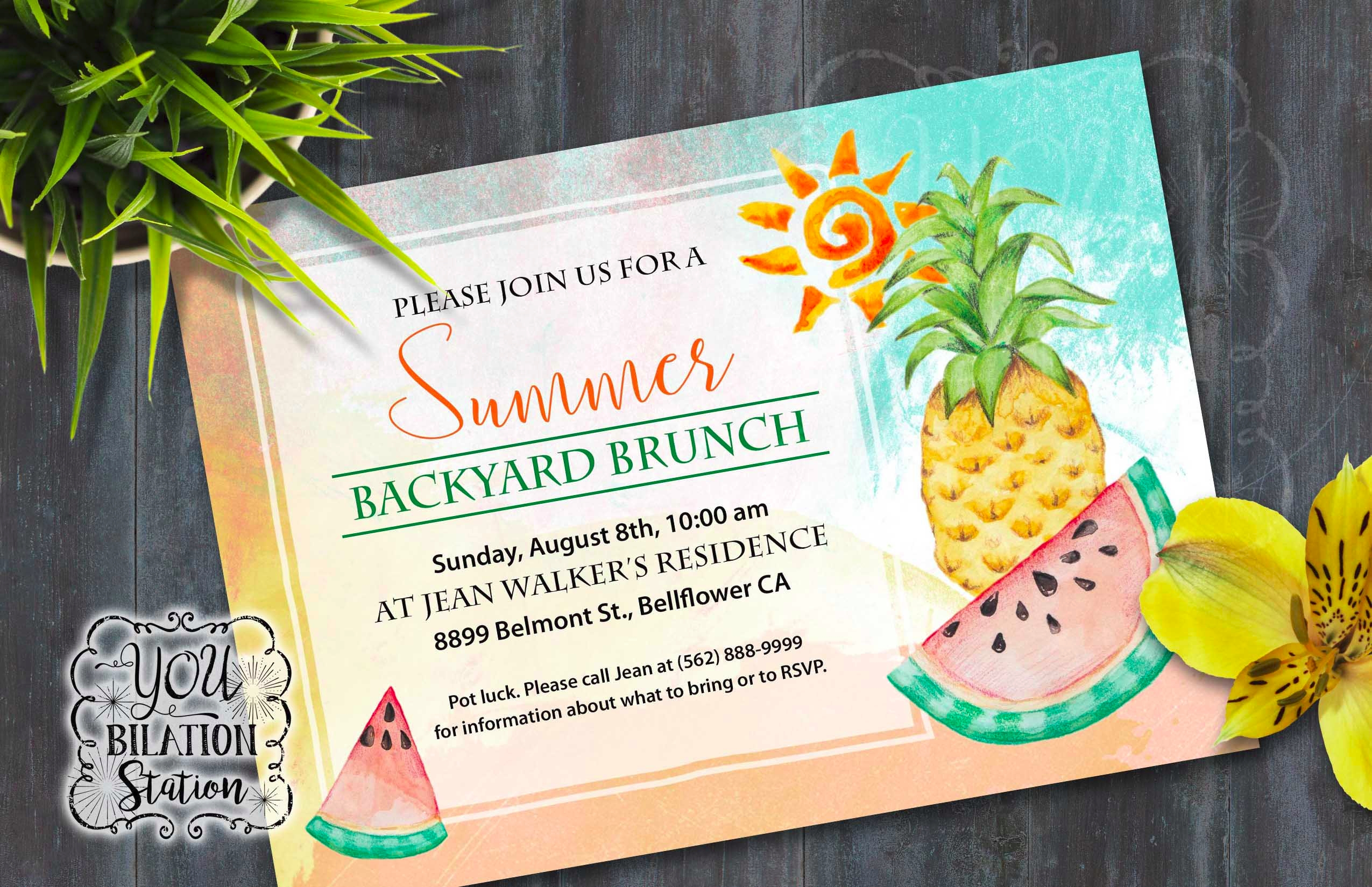 summer get together invitation