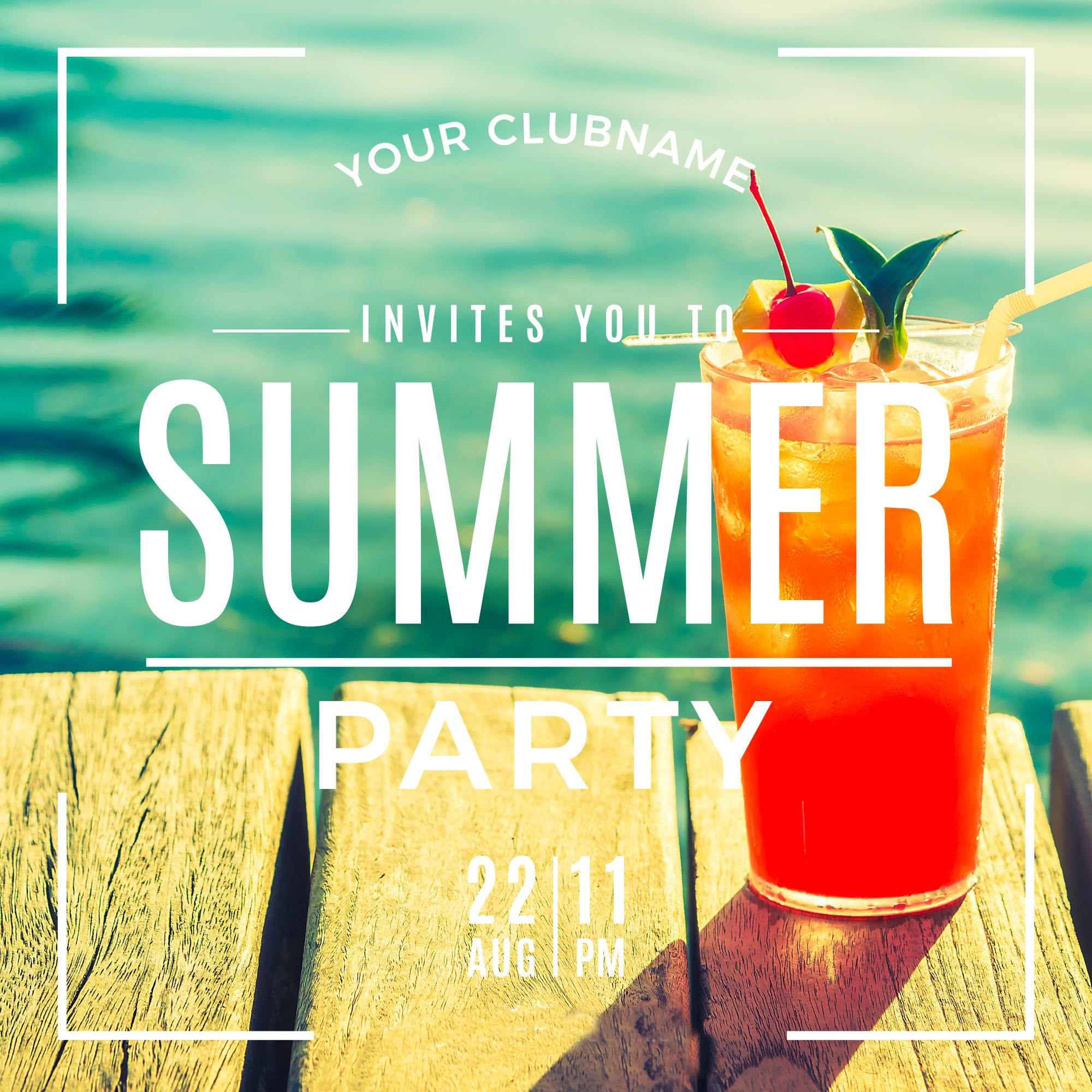 summer holiday party invitation