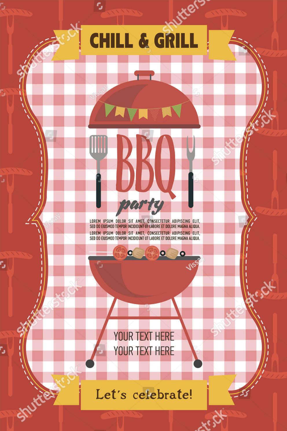 summer picnic party invitation card