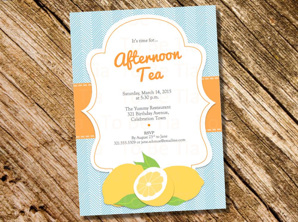 summertime luncheon invitation