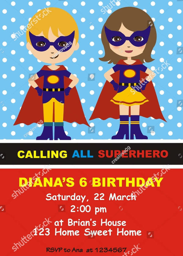 superhero birthday invitation design1