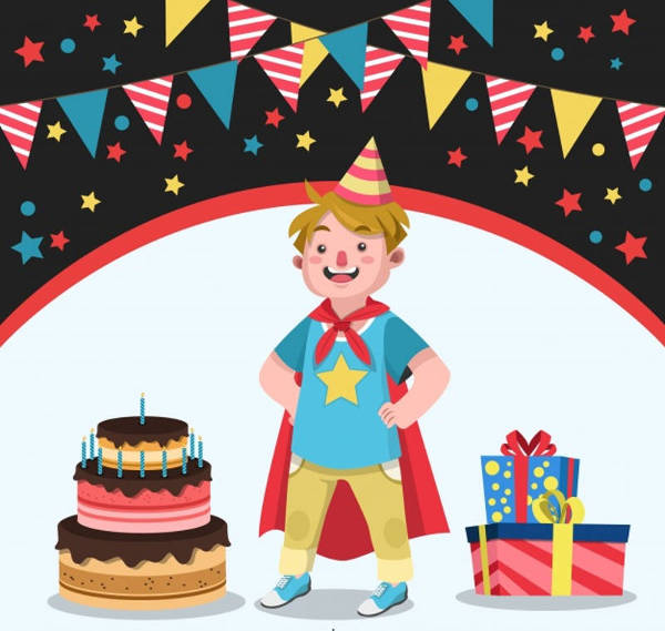 superhero child birthday invitation