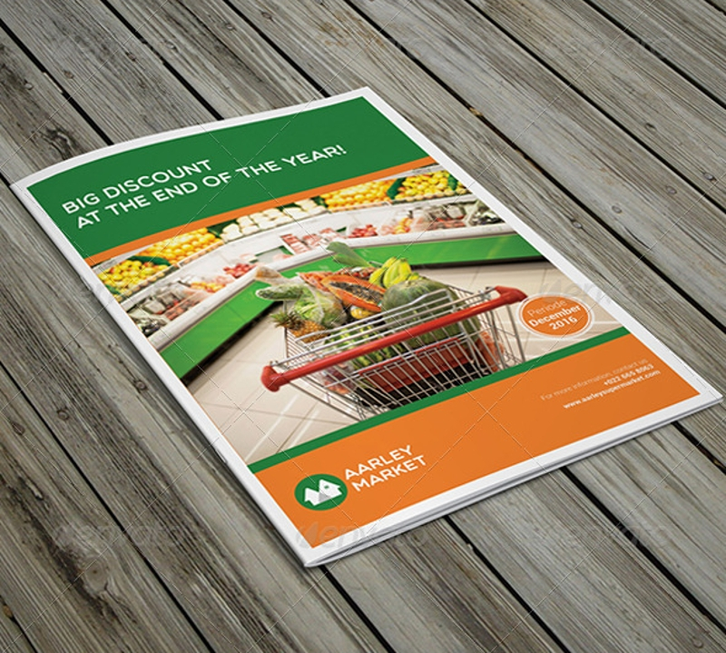 supermarket product brochure design