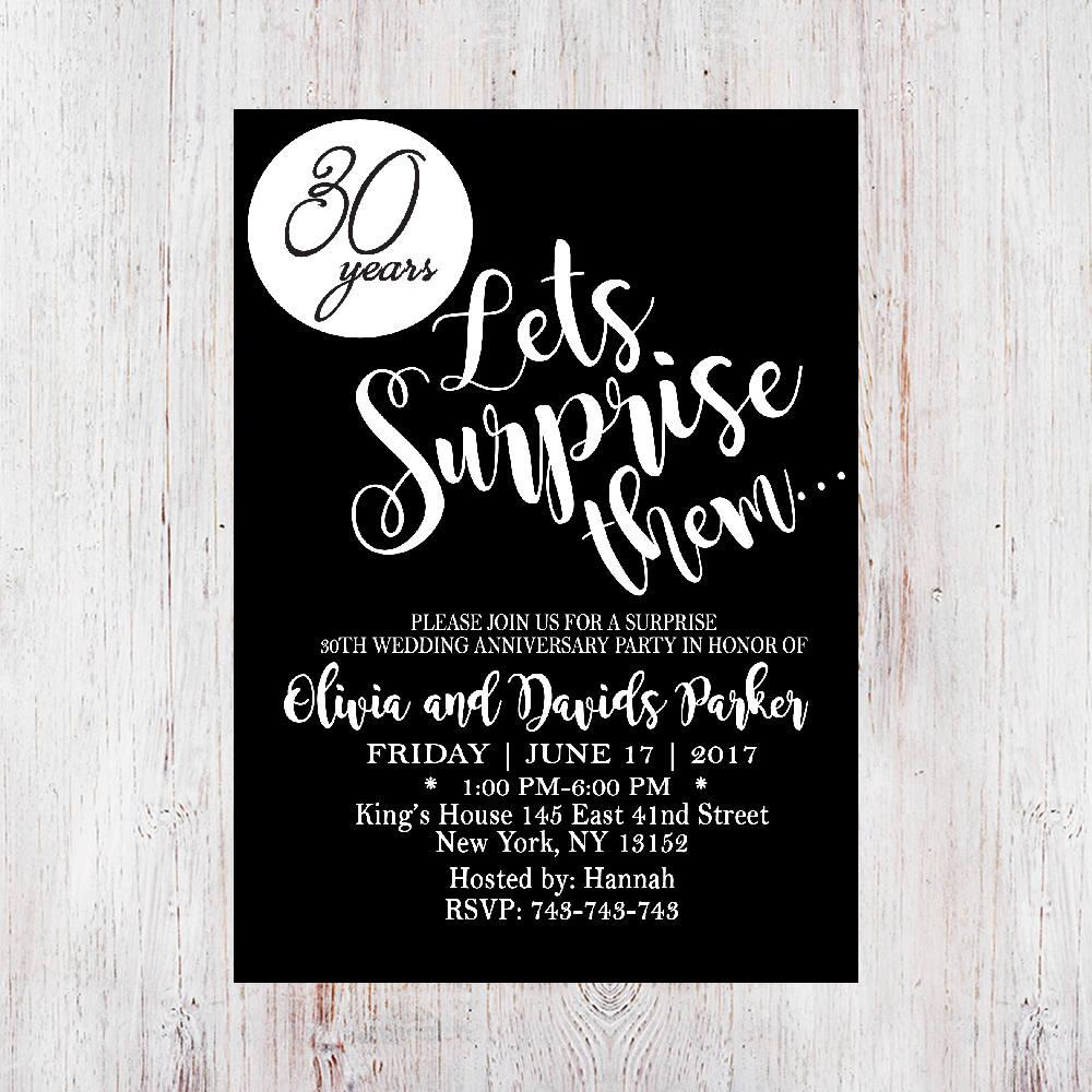 surprise anniversary invitation1