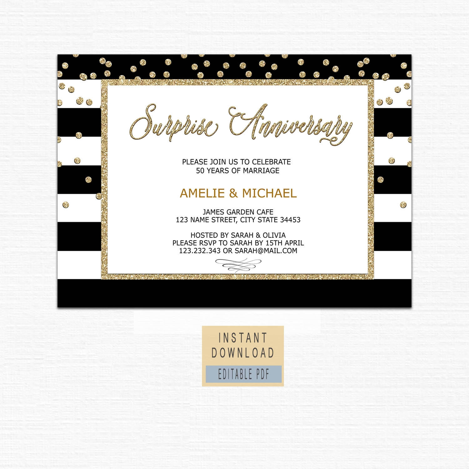 18+ Printable Anniversary Invitation Designs and Examples - PSD, AI