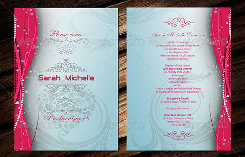 sweet 16 invitation design template