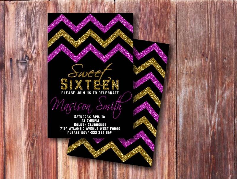 sweet sixteen birthday invitation1