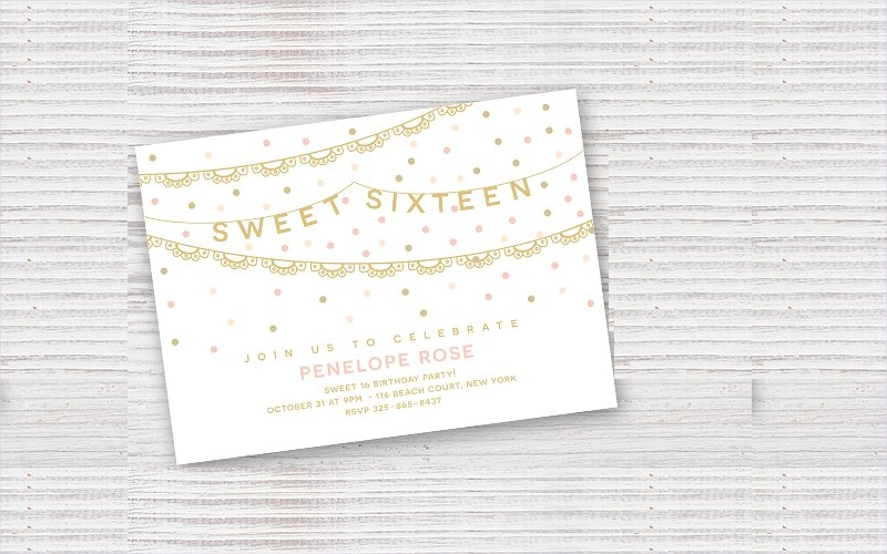 sweet sixteen birthday party invitation1