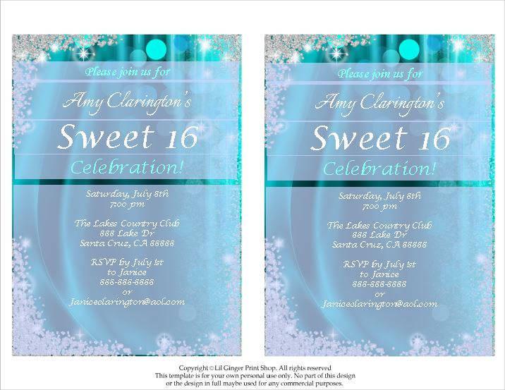 sweet sixteen celebration invitation