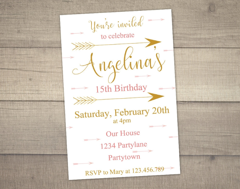 teen birthday invitation in psd
