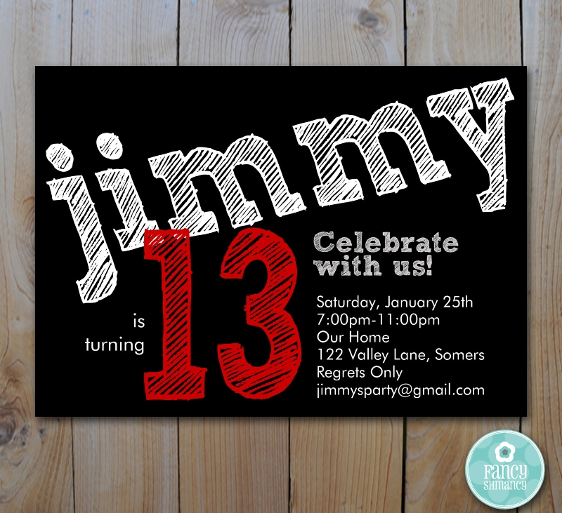 teen boys birthday invitation1