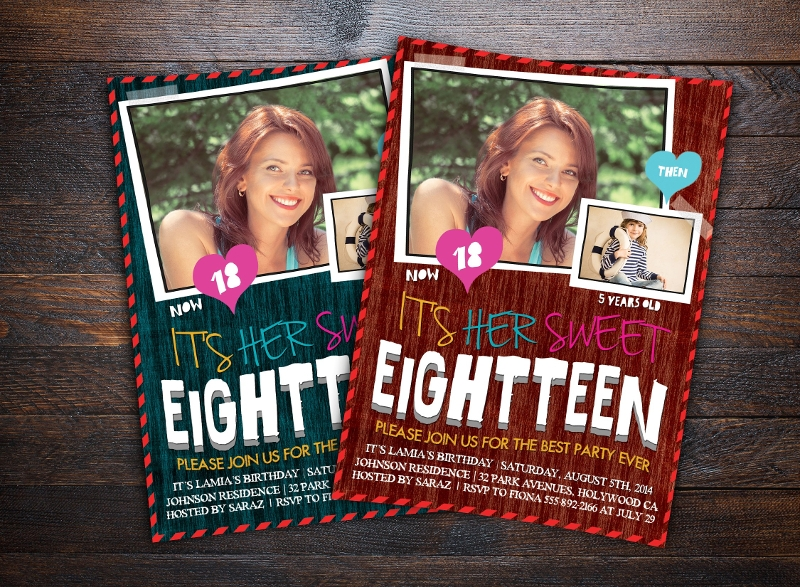 teens birthday invitation card