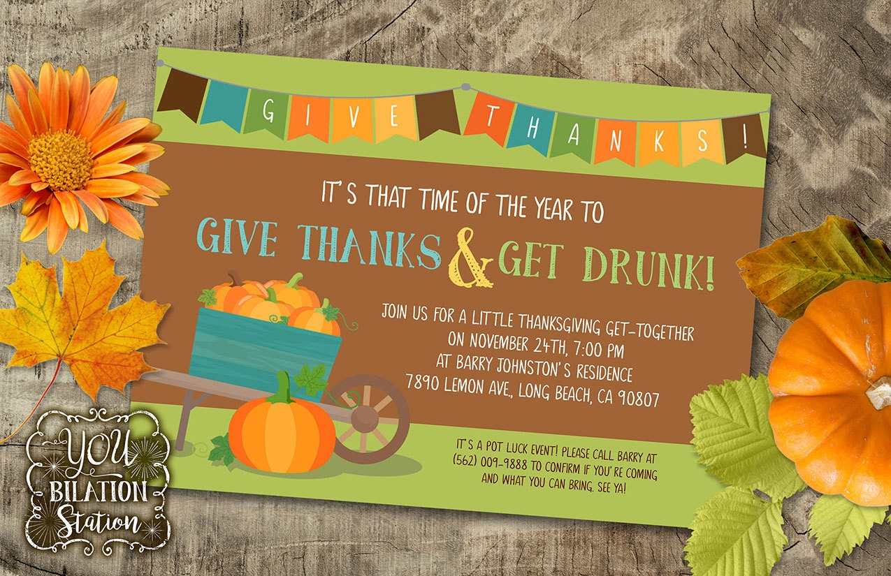 thanksgiving party get together invitation