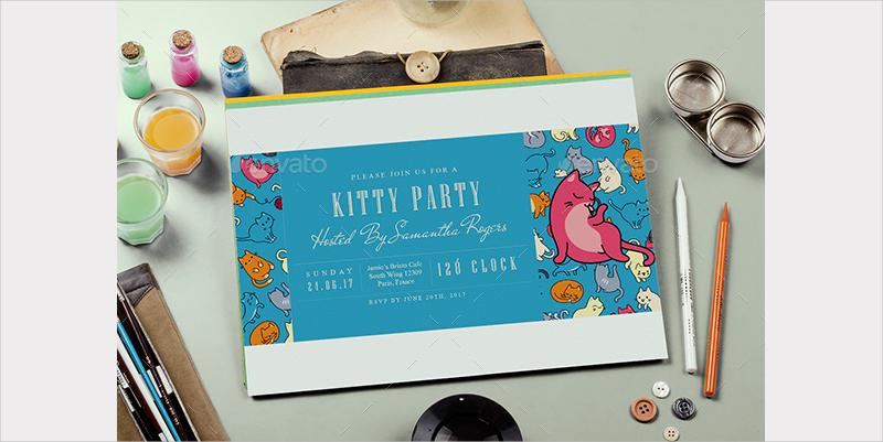 ticket kitty party invitation