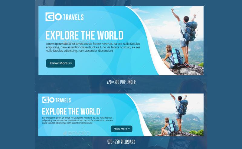 travel ad banner