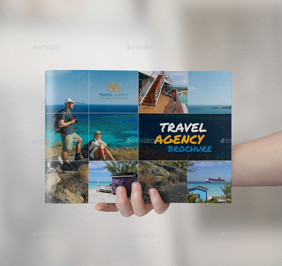 travel agency brochure catalog indesign