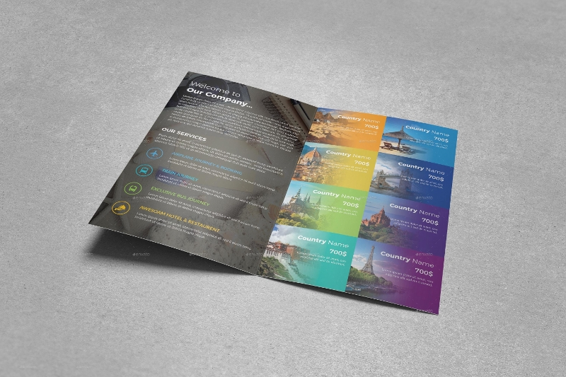 travel bifold brochure