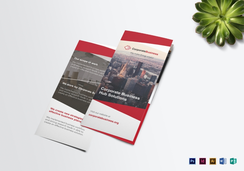 tri fold corporate business brochure template1