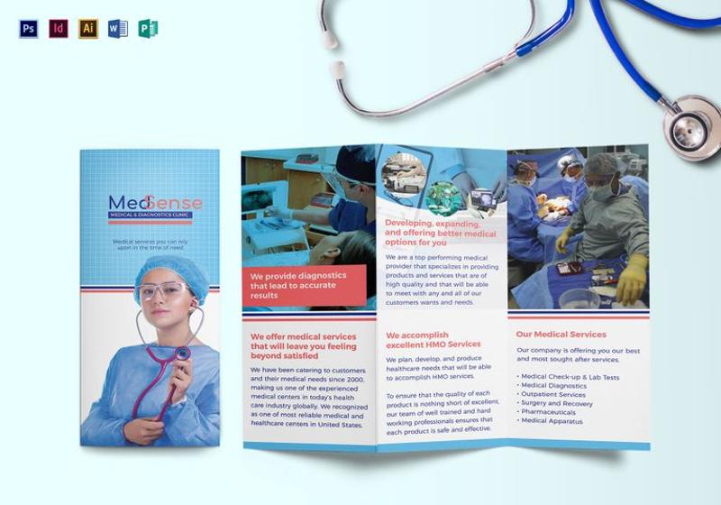 tri fold medical brochure template