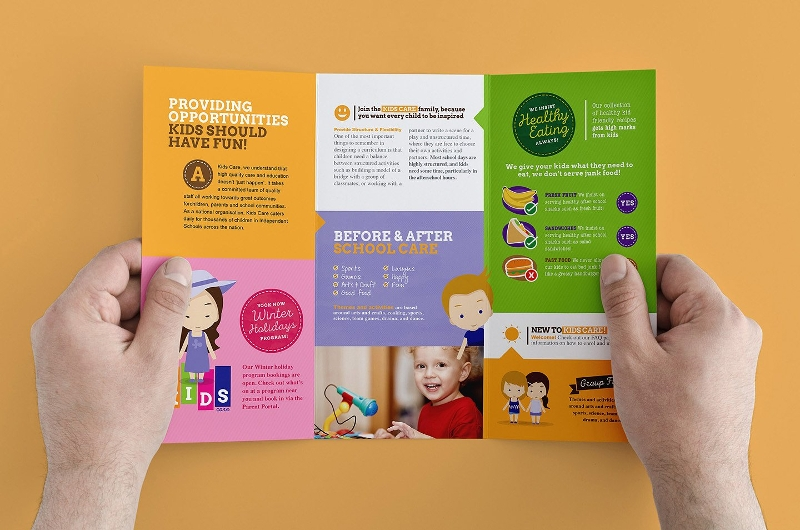 trifold after child school care template