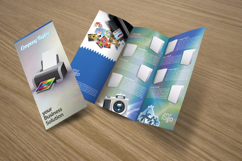 trifold product brochure design