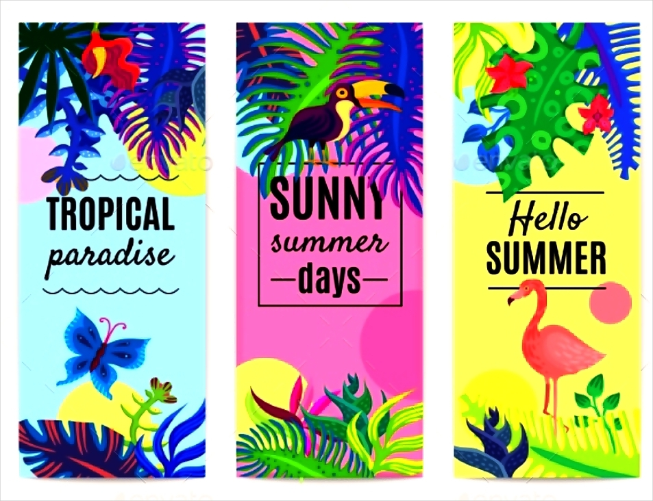 Tropical Paradise Vertical Banner Collection