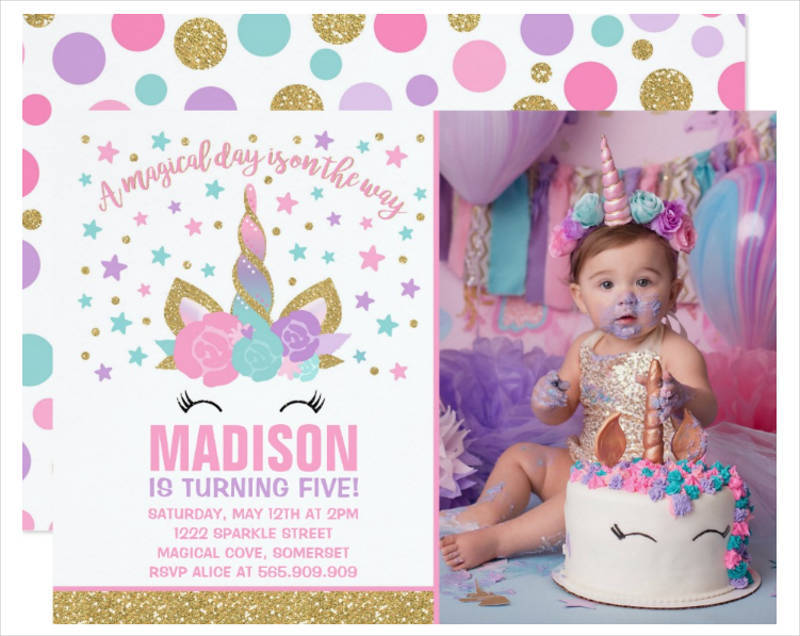 unicorn birthday invitation template1