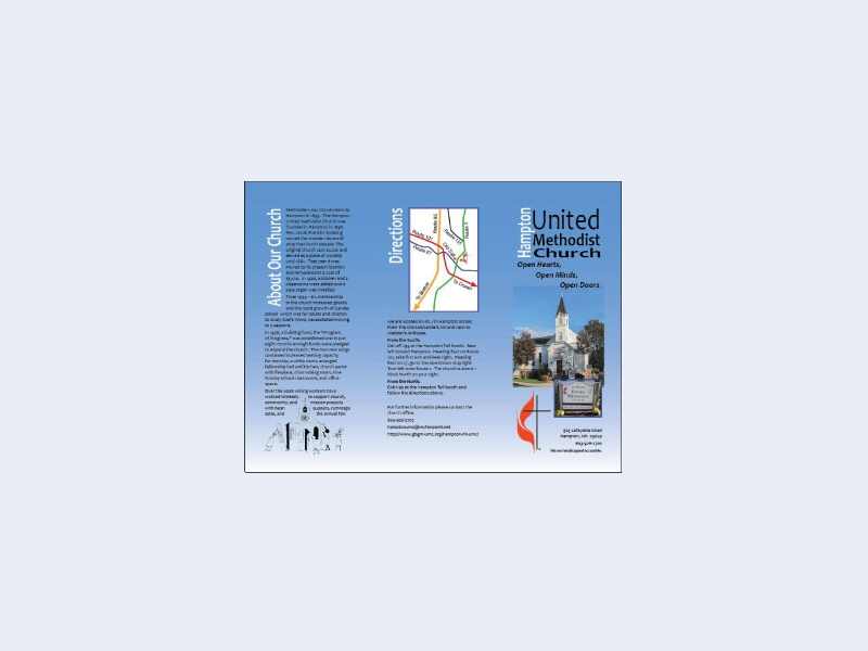 united methodist church informational brochure