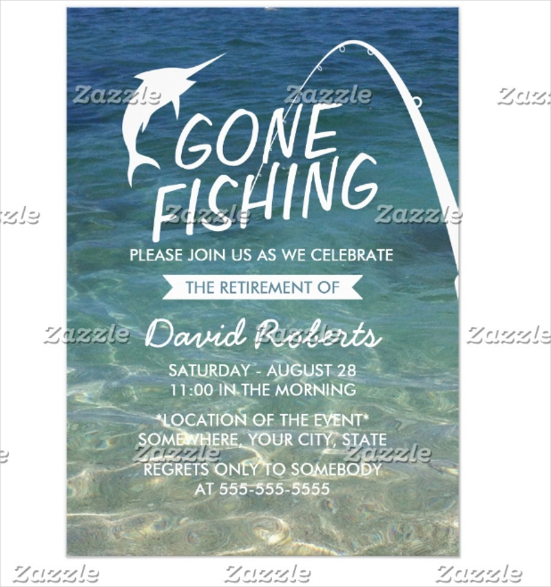 untitledfishing beach retirement party invitation