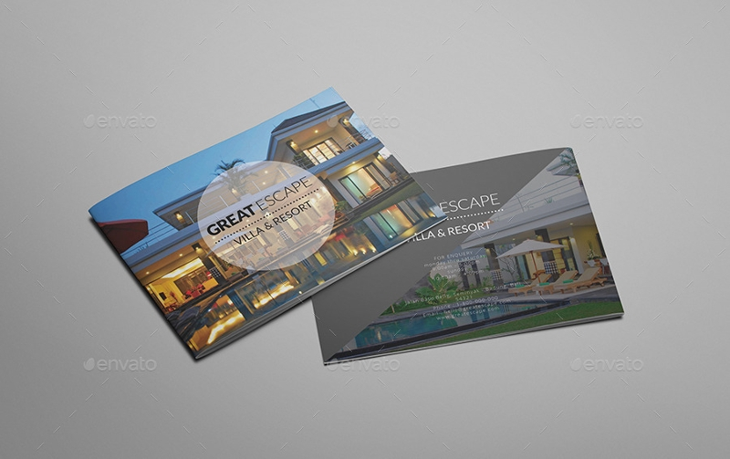 villa resort brochure