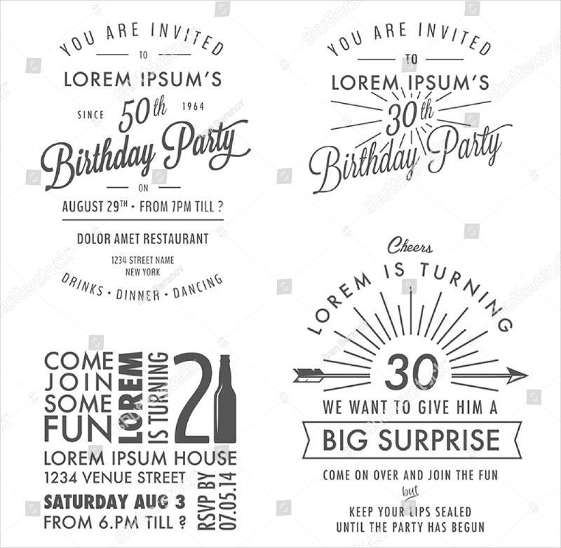vintage 50th adult birthday invitation1