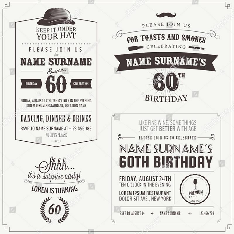 vintage adult birthday invitation1