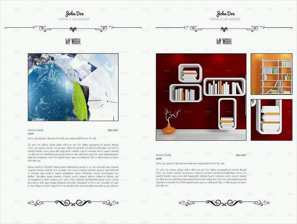 vintage art cv and portfolio