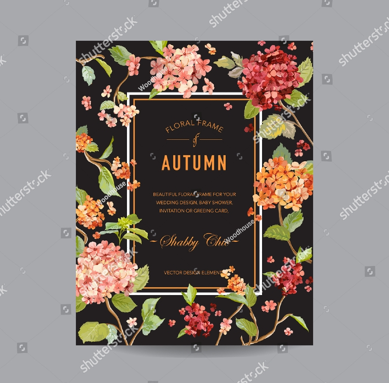 vintage autumn invitation