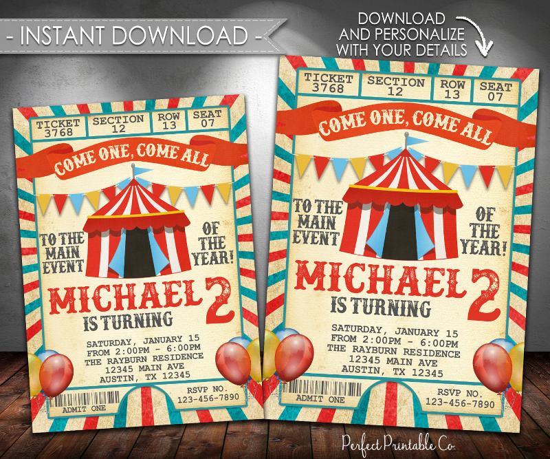 vintage carnival invitation1