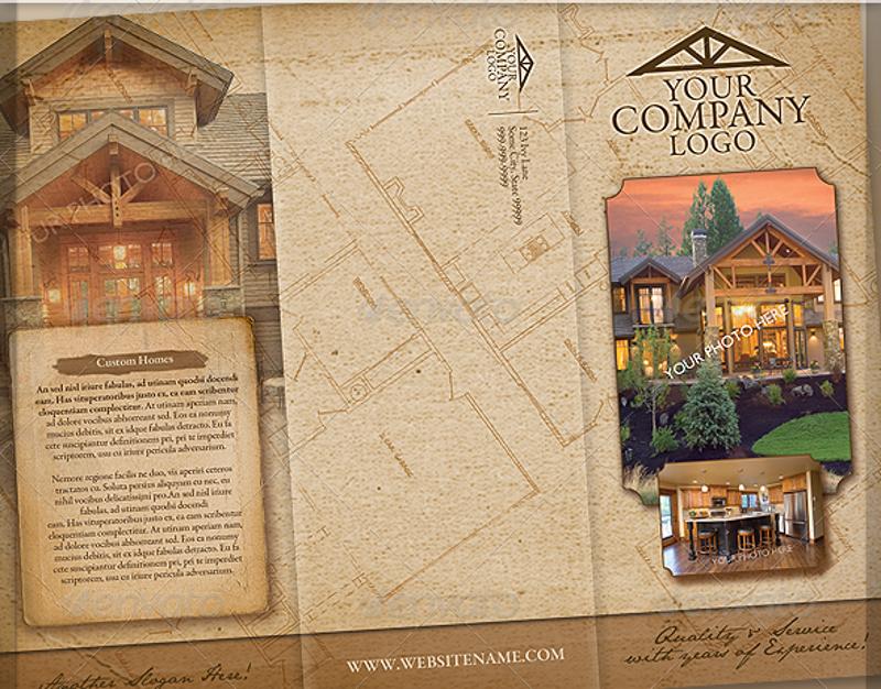 vintage craftsmen style brochure
