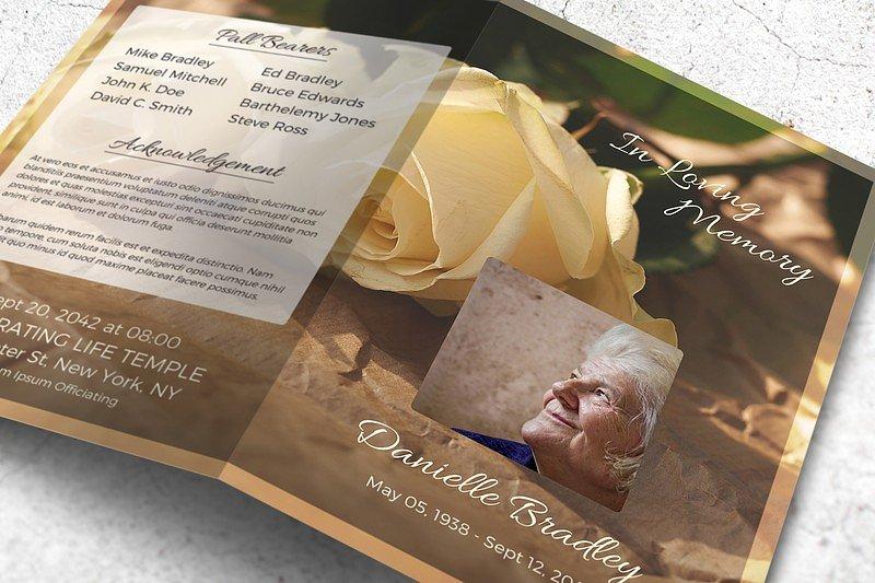 vintage funeral program brochure