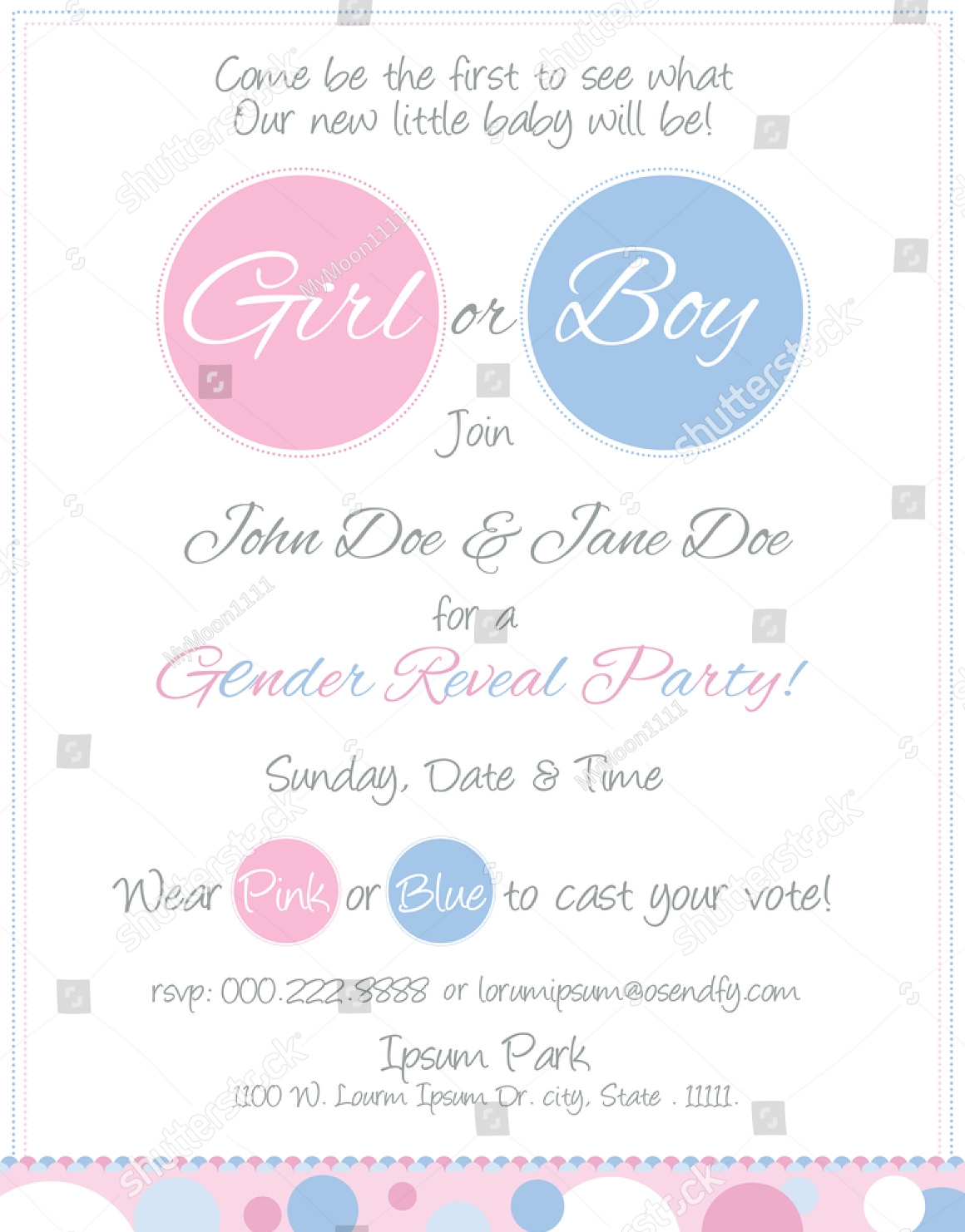 vintage gender reveal party invitation
