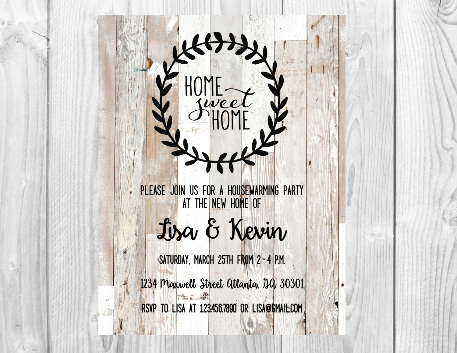 vintage housewarming party invitation