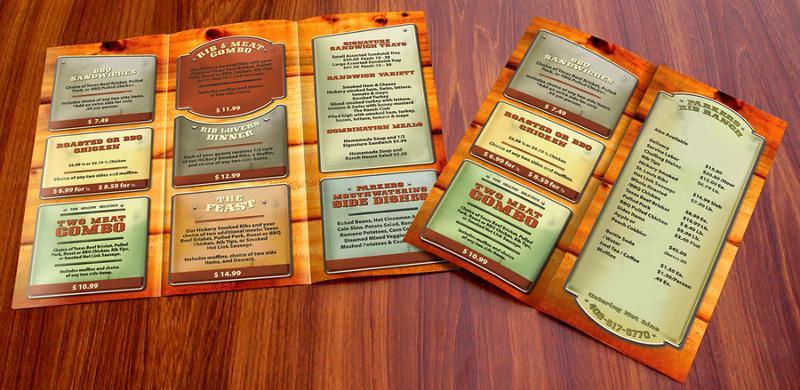 vintage menu brochure
