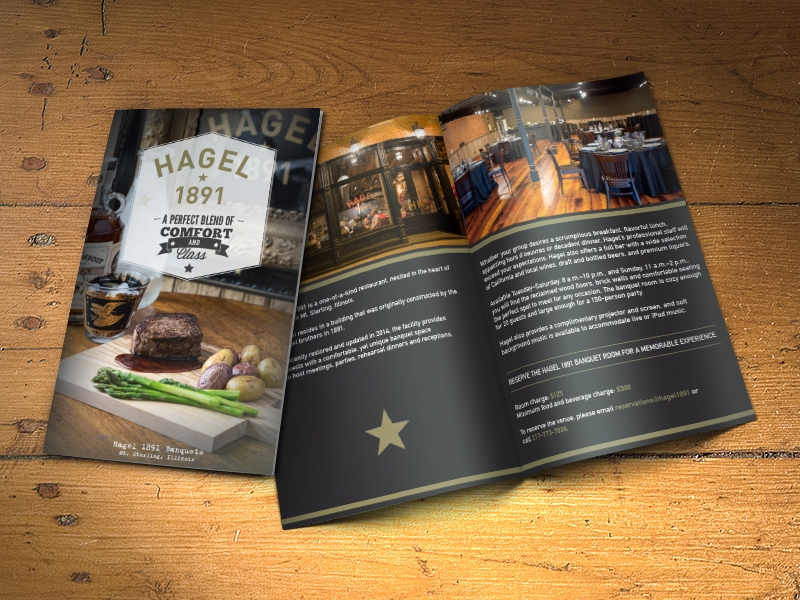 vintage restaurant brochure