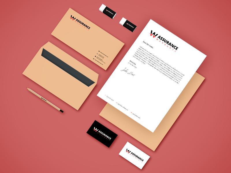 warranty branding identity design