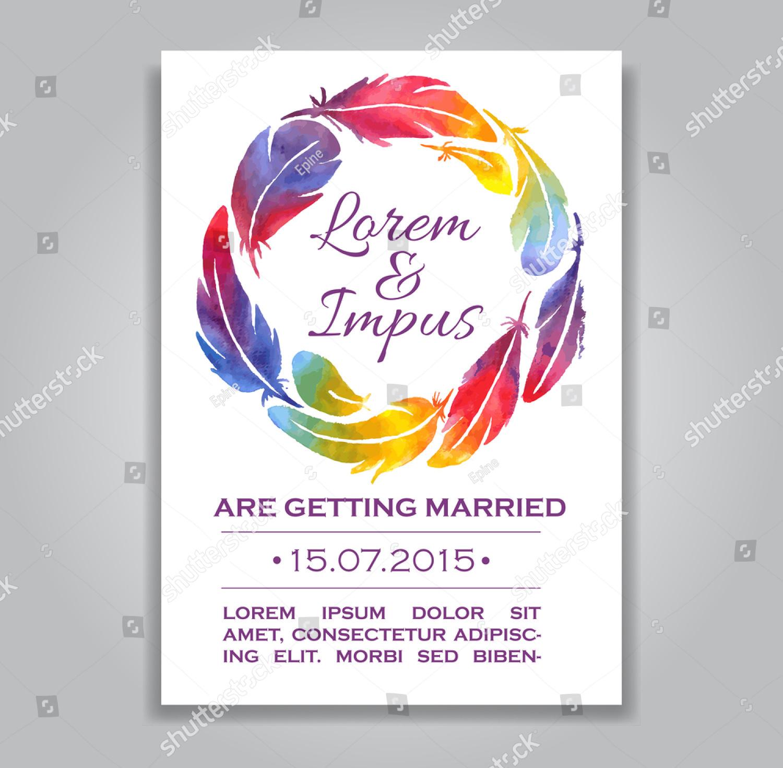 watercolor gay wedding invitations
