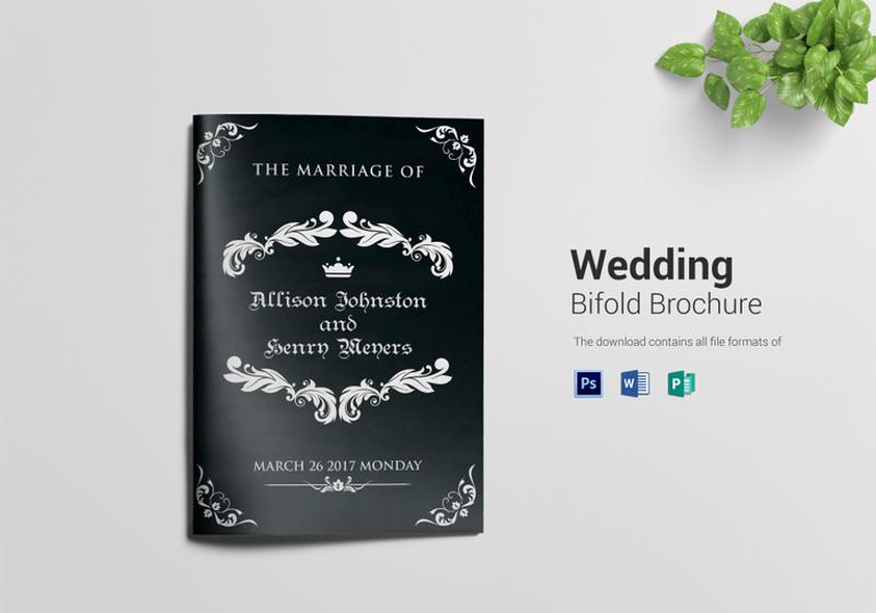 wedding bi fold brochure template
