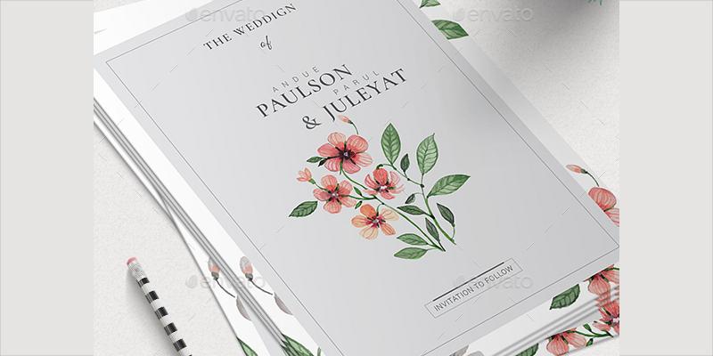 wedding invitation in psd